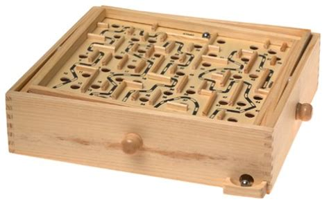 wooden labyrinth puzzle findgift