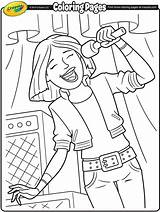 Singer Coloring Rock Band Lead Crayola Pages Colouring Colour Visit Libraries Poster sketch template