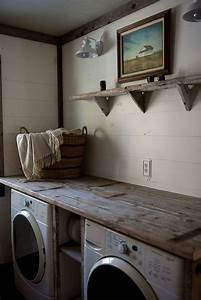 10 most awesome laundry room with rustic touches home for Rustic laundry room decor
