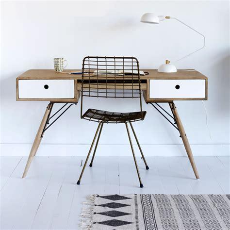 bureau en bois pas cher bureau en bois et métal manille hanjel bureau decoclico