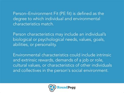 personenvironment fit pe fit  defined