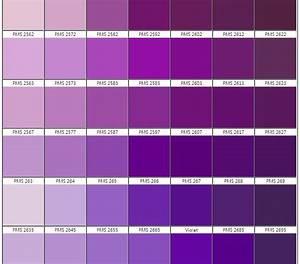 Theme Color 2607 Shades Of Purple Chart Purple Color