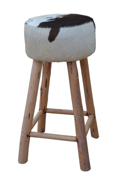 Cowhide Stool by Cowhide Bar Stool Cowhide Stools Philbee Interiors