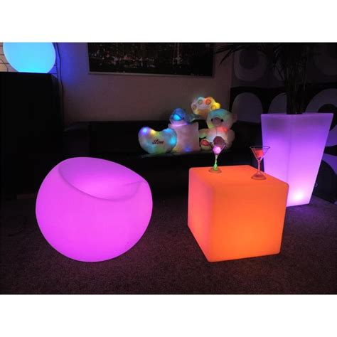 led cube seat light  glow cube chair eternity led
