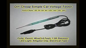 Dyi Simple 12v Dc Pencil Light Tester Car Volt Test 3 6 9