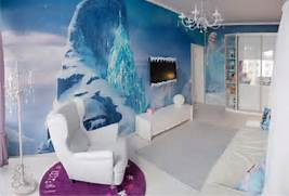 Frozen Girls Bedroom Decorating Ideas Moreover Frozen Disney Kids Room Frozen Themed Children Bedroom My Daughters Very Own Arendelle From The Room Created By Dahlia Mahmood In Virginia Includes A Castle