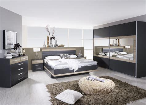 chambre a coucher femme chambre adulte complète contemporaine grise chêne clair