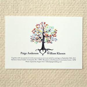 the bohemian tree wedding invitation diy printable pdf With free printable tree wedding invitations