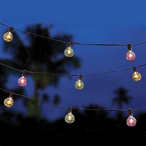 buy multi colored threaded ball string lights from bed bath beyond