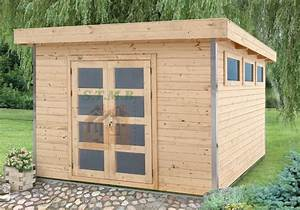 Cabanon En Bois : abri de jardin toit plat avec profil d 39 angle en aluminium ~ Premium-room.com Idées de Décoration