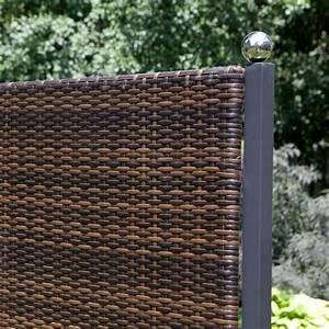 Trennwand terrasse kunststoff for Terrassen sichtschutz kunststoff geflecht