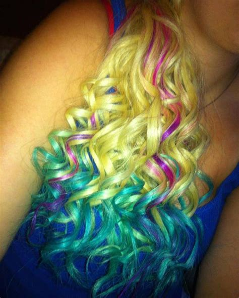 Dip Dyed With Splat Lusty Lavender Aqua Rush And Blue