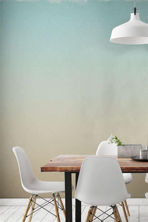 papier peint fresque peinture horizon pastel