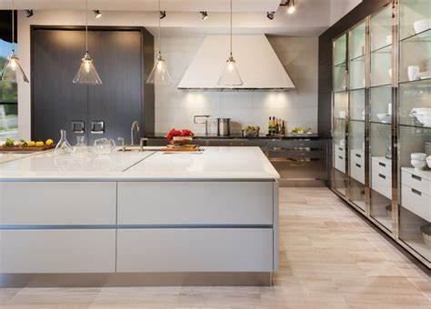 Modern White Sea Glass Kitchen Countertops   Contemporary