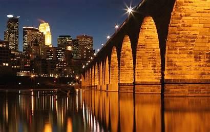 Minneapolis Mississippi Bridge River
