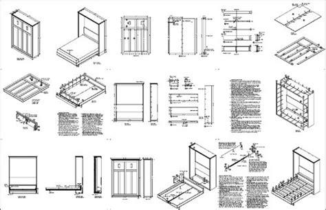 Horizontal Queen Murphy Bed Open Dimensions Png For