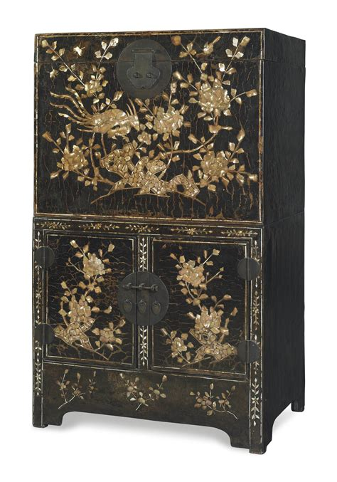 ming cabinet an large of pearl inlaid compound cabinet
