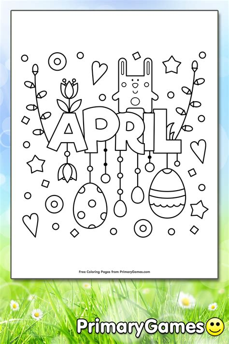april coloring page printable spring coloring  primarygames