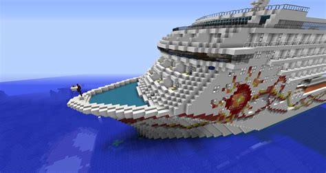 Minecraft Cruise Ship - Norwegian Sun 11 Replica Minecraft Project