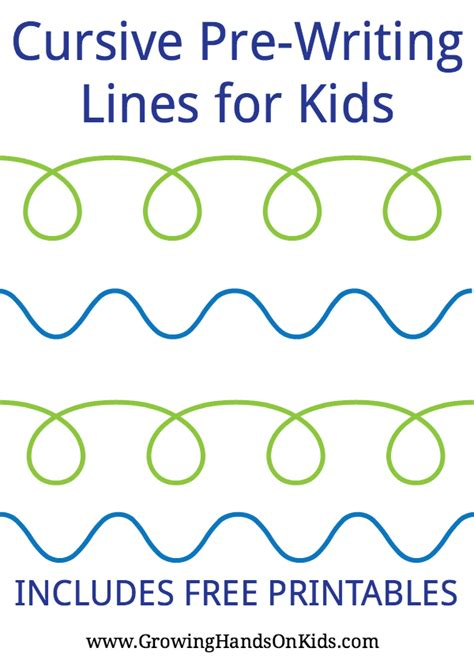 cursive pre writing lines amp strokes for free 152 | cursive prewriting lines for kids PIN