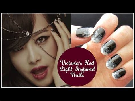 kpop nail art fx victoria red light inspired nails