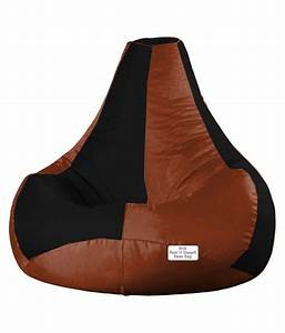Restnsleep, Xl, Bean, Bag, Chair, -, Without, Beans, -, Cover, Only, Teardrop, Black, Tan