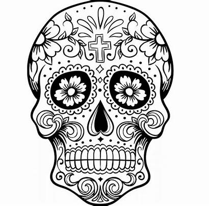 Coloring Pages Skull Scary Adult Printable Getcolorings