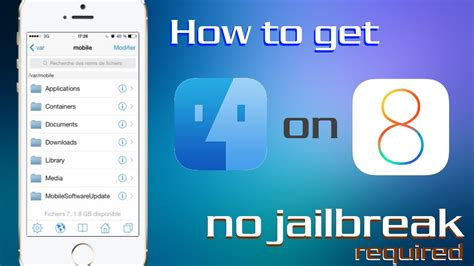 how to get iphone how to get ifile without jailbreak on ios 8 and iphone 6