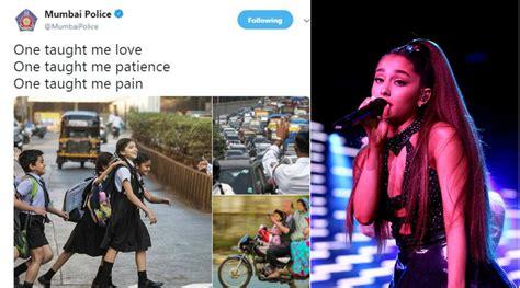 Mumbai Police Gives Twist To Ariana Grande's 'thank You