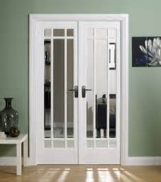 manhattan white primed doors with clear - Interior Door Frames Home Depot