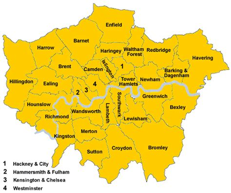 london local guide  map british services
