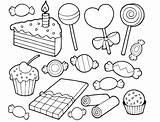 Kleurplaten Coloring Dessert Snoep sketch template