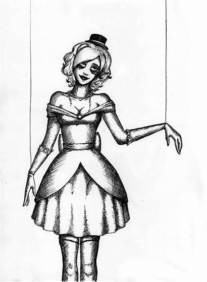 Creepy Drawing Marionette Doll Pencil Sketches Izabeth
