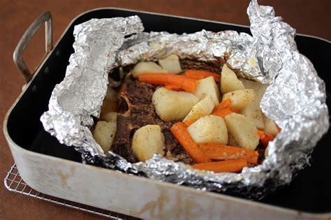 budget baked chuck steak dinner  foil recipe