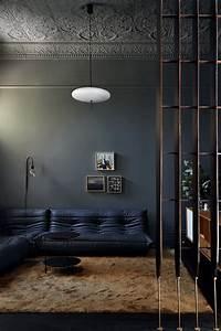 Dark, Interior, With, A, Wood, Panelled, Kitchen