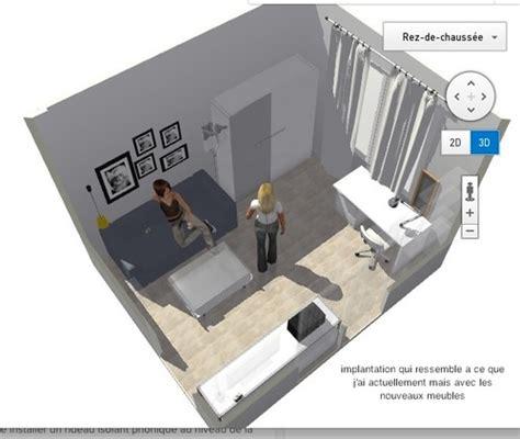 canapé lit blanc aménagement studio la pièce à vivre 13m2