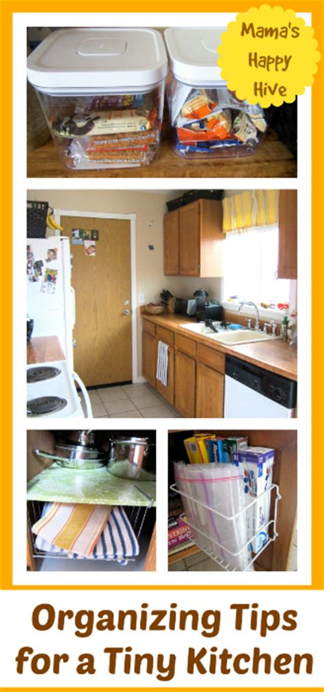 organizing a tiny kitchen 6 diy cleaning tips link up 2 s happy hive 3789