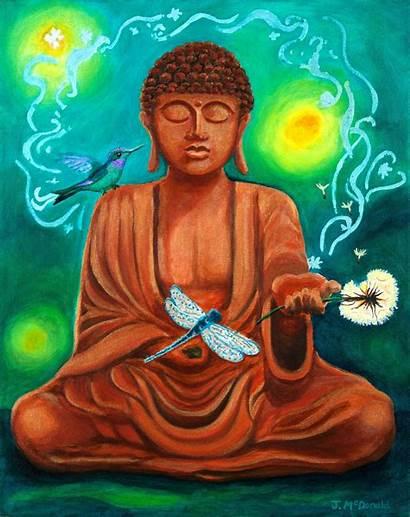Spiritual Mcdonald Painting Janet Secrets Buddha Paintings