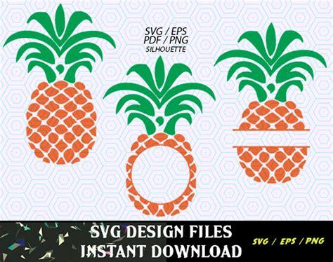 Pineapple Svg Monogram Frame File Svg Print & Cut