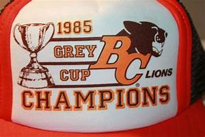BC Lions 1985 Grey Cup Champions Vintage CFL Snapback ...