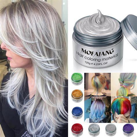 gray diy hair color wax mud dye coloring cream temporary
