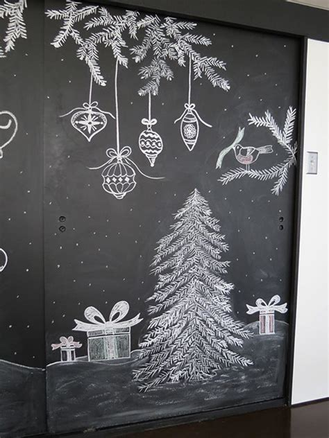 ideas  christmas chalkboard art  pinterest