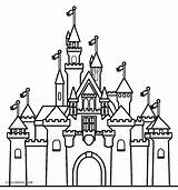 Castle Coloring Pages Disney Printable Cool2bkids sketch template