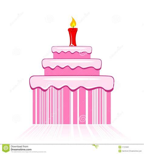 birthday cake  barcode stock image image
