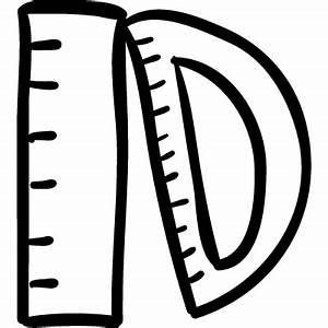 Rulers hand drawn education tools ⋆ Free Vectors, Logos ...