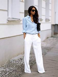 Tenue Femme Classe : 1001 id es pour une tenue avec pantalon blanc fantastique ~ Farleysfitness.com Idées de Décoration