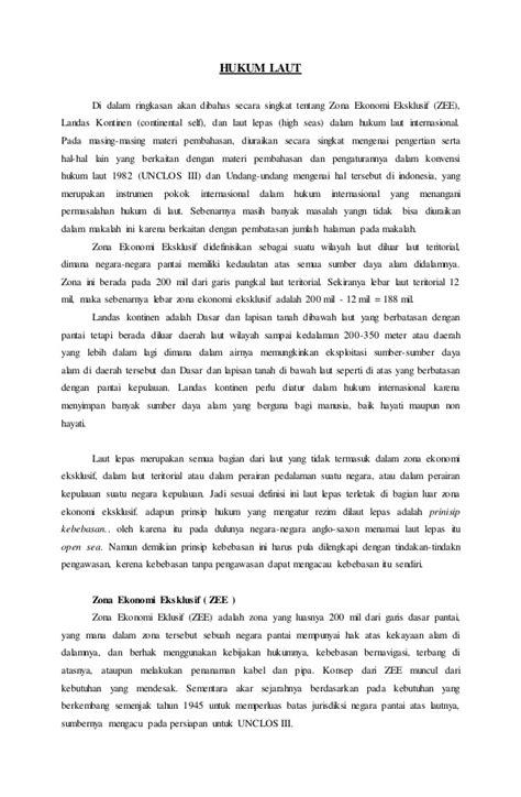 Tugas rangkuman hukum laut pa jabbar