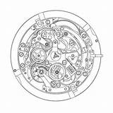 Zenith Primero El Caliber Watchtime Modern Eye Guy Watches Drawing Clock Calendar Annual Watchbase Winsor Craft sketch template