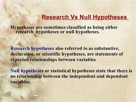 research problem hypothesis conceptual framework