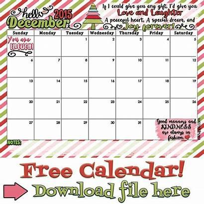 December Calendar Inkhappi Printable Say